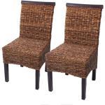 2x Esszimmerstuhl Korbstuhl M45 Stuhl Bananengeflecht ' dunkel, ohne Kissen