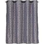 """2x Vorhänge """"Muster"""" in Grau/ Silber - (B)135 x (H)120 cm"""