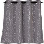 """2x Vorhänge """"Muster"""" in Grau/ Silber - (B)135 x (H)90 cm"""