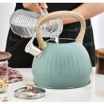 3.5L Grüner Pfeifender Teekessel Wasserkocher Edelstahl für Herdplatten