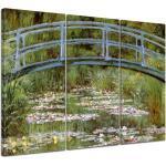 """3-tlg. Leinwandbilder-Set ?""""Alte Meister Die japanische Brücke""""? von Claude Monet, Kunstdruck"""