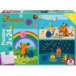 3 x 24 Teile Schmidt Spiele Kinder Puzzle Die Maus Gute Freunde 56212