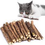 30 Stück Katzenminze Sticks Katzen Zähne Reinigung Stock Matatabi Katze Kausticks Matatabi-sticks Katzenspielzeug Matatabi Katzenspielzeug Reinigung Zähne Reine Natürliche Katzenminze Spielzeug