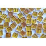 300 Mosaiksteine mit Goldfäden, nicht echt , Goldline, Flimmer 1x1cm, ca. 204g.