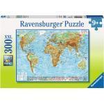 300 Teile Ravensburger Kinder Puzzle XXL Politische Weltkarte 13097