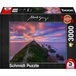 3000 Teile Schmidt Spiele Puzzle Mark Gray Nugget Point Lighthouse 59348