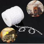 30m Kristall Perlen Vorhang Fadenvorhang Wohnzimmer Badezimmer Fenster Tür Deko