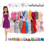 32 × Puppenkleidung Kleid + Halskette + Handtasche + Schuhset Für 11-Zoll-Puppen