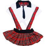 Rote Mini V-Ausschnitt Matrosen-Kostüme für Damen