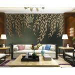 3D Blätter Brown H380 Tapete Wandbild Selbstklebend Abnehmbare Aufkleber Wend