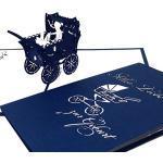 """3D Karte zur Geburt """"Junge - Kinderwagen"""" - Pop-Up Karten zur Geburt - Glückwunschkarte zum 1. Geburtstag als Gutschein, kleines Geschenk, Geschenkgutschein & Geschenkverpackung"""