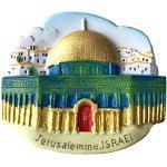 3D-Kühlschrankmagnet Jerusalemme Israel, Reiseaufkleber, Souvenir, Heim- und Küchendekoration, Jerusalemme Israel Kühlschrankmagnet