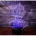 3D LED Lampe Nachtlicht, CKW 7 Farben Wählbar Dimmbare Touch Schalter Nachtlampe für Kinder Weihnachten Geburtstag beste Geschenk Spielzeug (Dragon ball 1)