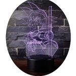 3D LED Lampe Nachtlicht, CKW 7 Farben Wählbar Dimmbare Touch Schalter Nachtlampe für Kinder Weihnachten Geburtstag beste Geschenk Spielzeug (Dragon ball 5)