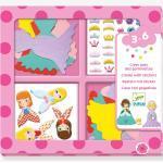 "3D-Sticker ""Prinzessinnen"" DJECO rosa"