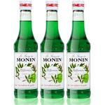 3x Monin Pfefferminz Sirup, 250 ml Flasche