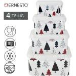 4-tlg Frischhaltedosen-Set Keksdose Weihnachten Behälter Dose Lunchbox Ernesto®