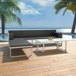 4-tlg. Garten-Lounge-Set mit Auflagen Aluminium Schwarz 27293 - Topdeal