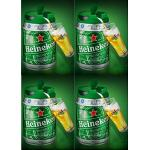 4 X 5 Liter Heineken Bierfass Mit Zapfhahn Draught Keg 5%