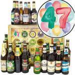 47. Geburtstagsgeschenk / 24x Bier DE und Welt/Geschenke 47er Geburtstag/Bier Adventskalender
