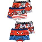 4er Pack Spiderman Jungen Boxershorts Kinder Unterhosen 92-98 / Mehrfarbig