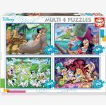 """4er-Set Puzzles, 50-150 Teile """"Multi 4"""" Disney CLASSICS EDUCA® mehrfarbig"""
