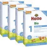 4x Holle Bio-Anfangsmilch 1 von Geburt an (400g)