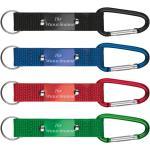 4x Schlüsselanhänger Mit Gravur/Karabiner Je 1x Schwarz, Blau, Rot, Grün