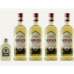 4x Soplica Haselnuss + 1x kostenfrei Krupnik Haselnuss in der Probiergröße (30%, 0,1 Liter) | Polnischer Haselnusswodka/-likör | je 28%, 0,5 Liter