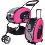 5 - 1 Combo Trolley - Hundebuggy, Hundetasche + Pink rosa