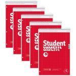 5 BRUNNEN Collegeblöcke Student DIN A4 kariert
