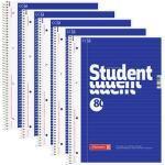 5 BRUNNEN Collegeblöcke Student DIN A4 liniert