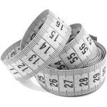 5 Maßbänder weiß 150cm inkl. Aufbewahrungsdose, Schneidermaßband, Bandmaß