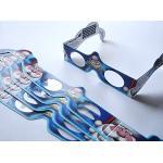 5 Stück HoloSpex 3D Brille Santa Claus, Sankt Nikolaus, Weihnachtsmann, Weihnachten (Happy Eyes, Holiday Specs) / Weihnachtsbrille, Effektbrille, Partybrille, Spaßbrille