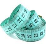 50 Maßbänder Grün 150cm inkl. Aufbewahrungsdose, Schneidermaßband, Bandmaß