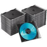 50 MediaRange 1er CD-/DVD-Hüllen Slim Cases transparent
