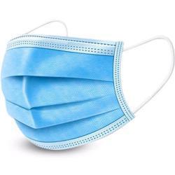 50 Stück Einweg Mundschutz 3-lagig eTopio weiß / blau Maske Gesichtsmaske Mund- Nasenschutz mit Gummiband 4251408601252