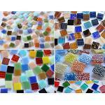 500 Stück Glas Mosaiksteine Bunt aus 5 versch. Artikeln a 15x15mm ca. 760g. als Weihnachtsgeschenk
