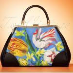 50s Ladybug Handbag in Blue