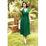 50s Layla Cross Over Dress in Green