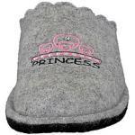 542 148 Mädchen Hausschuhe Princess grey Pantoffeln Hausschuhe grau Mädchen Kinder