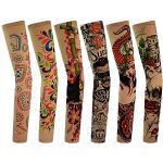 6 Stück Temporäre Tattoo Ärmel Gefälschte-Slip Tattoo Sleeves Körperkunst Sonnenschutz Arm Strümpfe Zubehör (C)