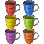 6 Tassen Kaffeebecher Kaffeetasse bunt Kaffeetassen Set Becher Kaffeepott Tasse 4260488826233 (2961)