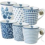 6-tlg. Kaffeebecher-Set aus Bone China