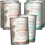 6 x 400 g | Mjamjam | Mixpaket mit Lamm und Pute Mahlzeit | Nassfutter | Hund