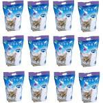 60 Liter Premium Katzenstreu Silica 12 x 5 L Silikatstreu Streu - Lavendelduft