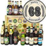68. Geburtstagsgeschenk / 24 Biere Welt und DE / 68-Geburtstag Geschenke Mann/Biersorten Adventskalender