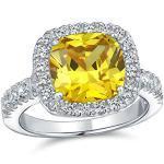 Graue Bling Jewelry Citrin Ringe