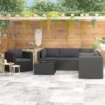 Schwarze Gartenmöbelsets & Gartengarnituren mit Kissen
