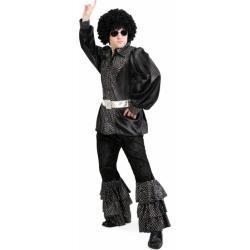 70er Disco Glamour Boy Herrenkostüm - schwarz